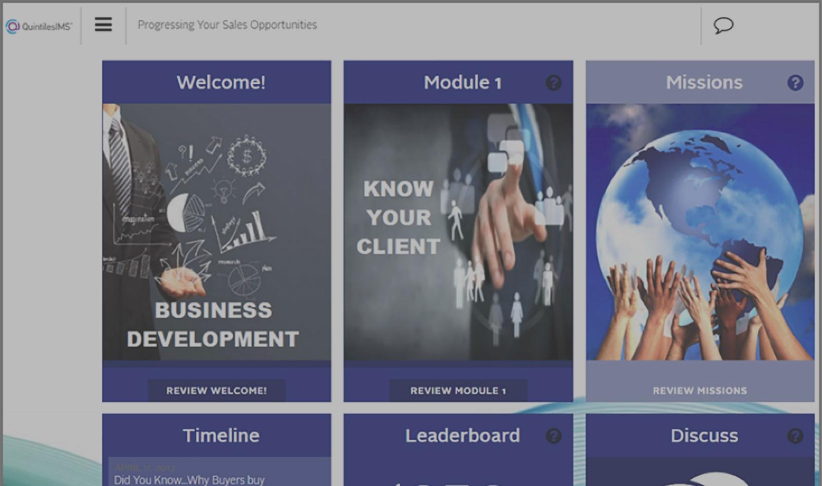 QuintilesIMS' homepage